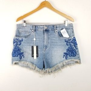 NWT Blank NYC embroidered denim short high rise 31